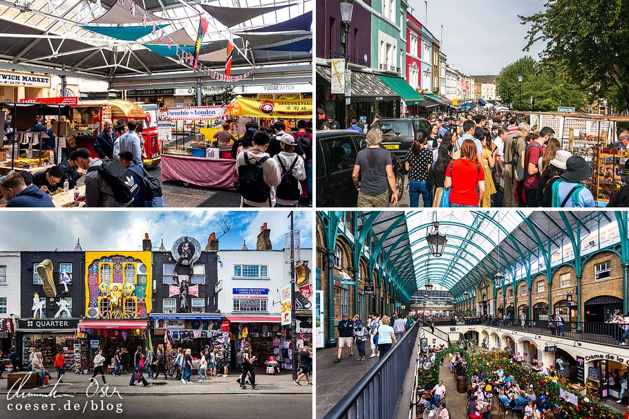 Citytrip nach London: Greenwich Market, Portobello Road Market, Camden Market, Covent Garden