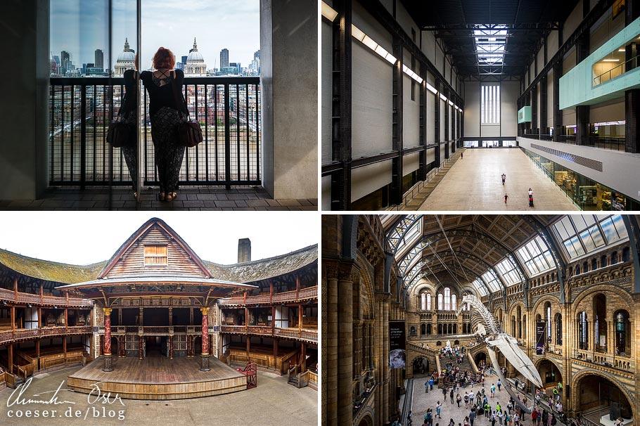 Citytrip nach London: Tate Modern, Shakespeare's Globe Theatre, Natural History Museum