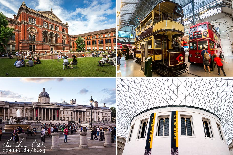 Citytrip nach London: V&A Museum, London Transport Museum, National Gallery, British Museum