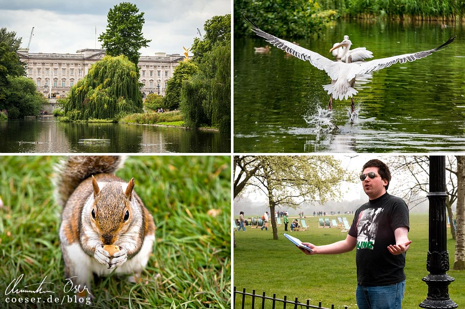 Citytrip nach London: St James's Park mit Buckingham Palace, Hyde Park mit Speaker's Corner