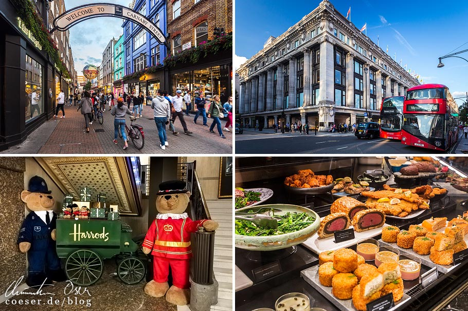 Citytrip nach London: Carnaby Street, Selfridges, Harrods