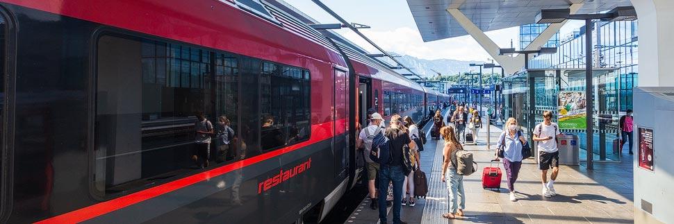 Zugfahrt von Wien nach München während des Coronavirus