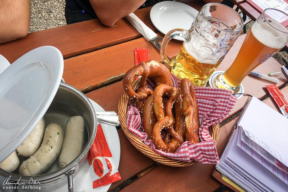 Weißwurstfrühstück im Augustinerkeller in München in Zeiten des Coronavirus