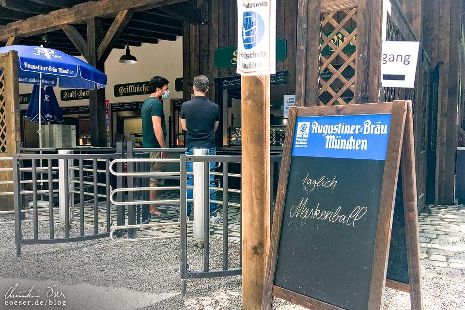 Augustinerkeller in München in Zeiten des Coronavirus