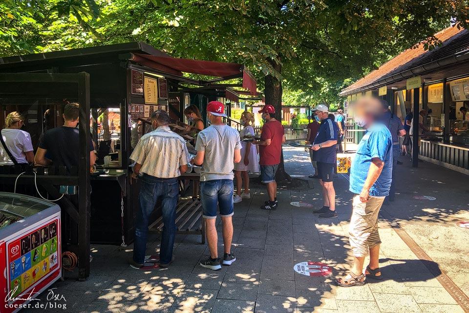 Aumeister Biergarten in München in Zeiten des Coronavirus