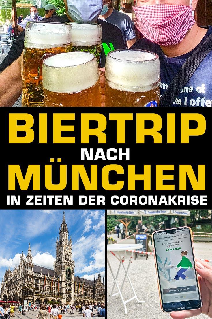 Biertour nach München in Zeiten des Coronavirus: Erfahrungsbericht über eine Zugreise von Wien nach München mit Maskenpflicht, Abstandsregeln und viel Bier.