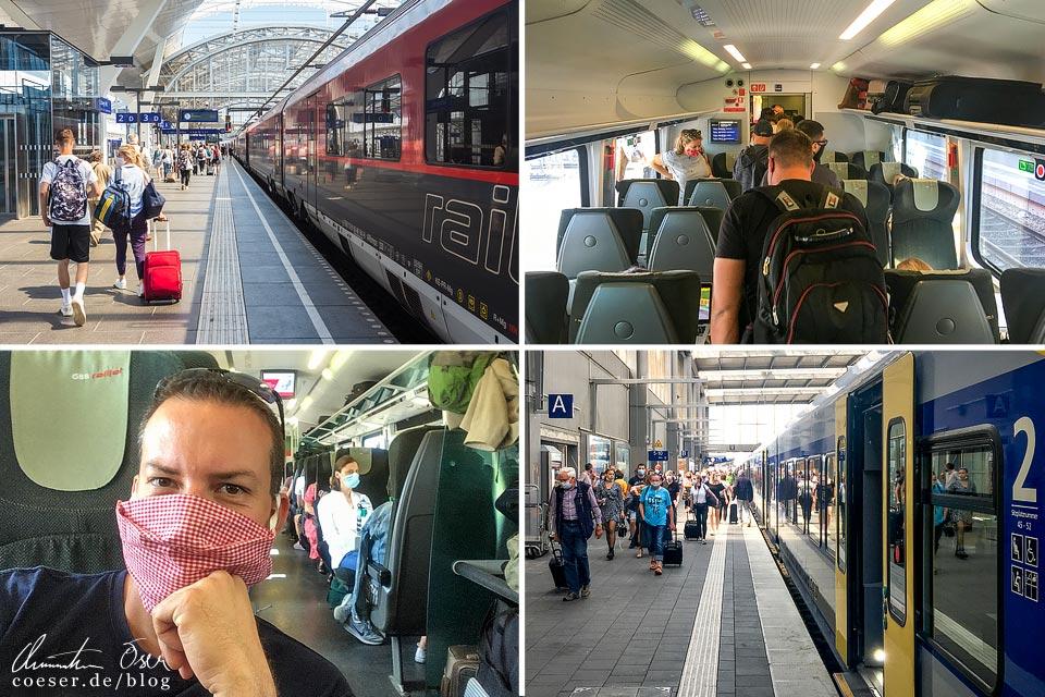 Zugfahrt von Wien nach München in Zeiten des Coronavirus