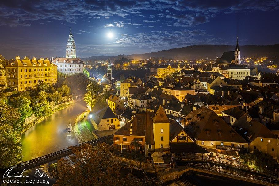 Das mittelalterliche Český Krumlov in Tschechien