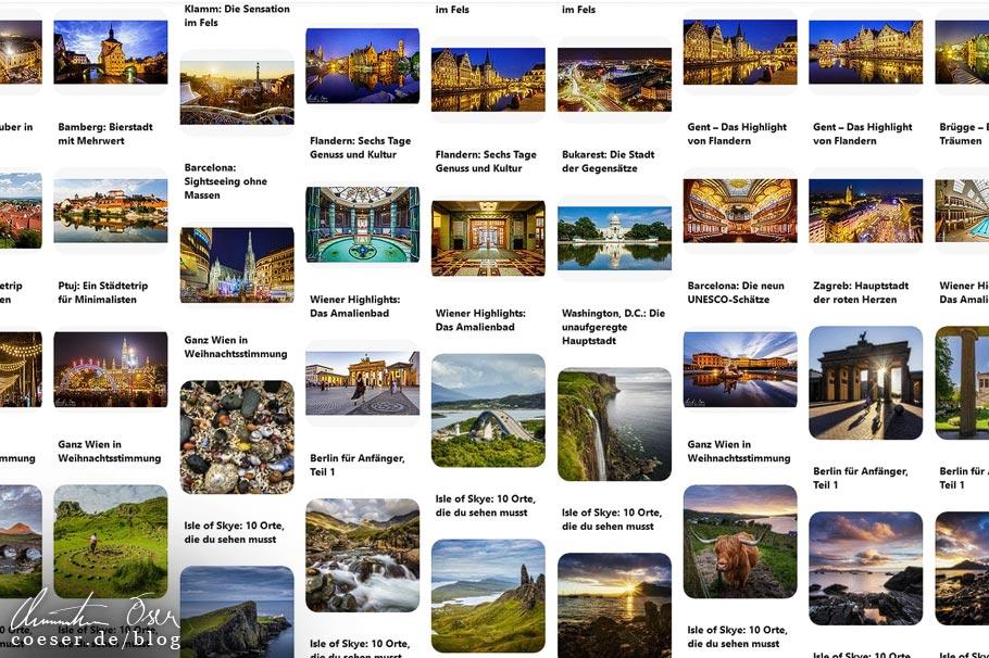 Recherche über die Fotoplattform Pinterest
