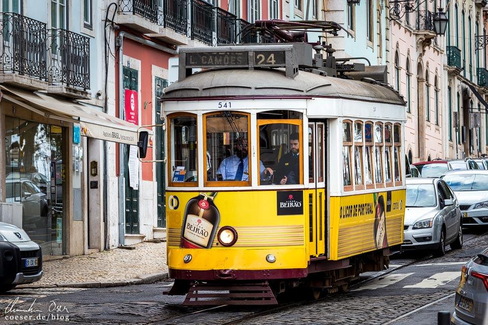 Straßenbahn 24E (Tramway) in Lissabon