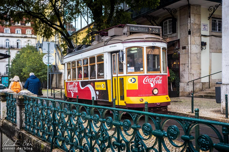 Straßenbahn 28E (Tramway) in Lissabon