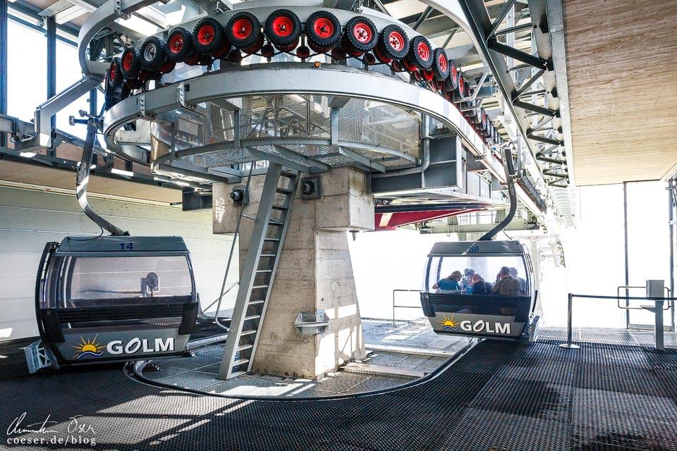 Talstation der Golmerbahn in Vorarlberg