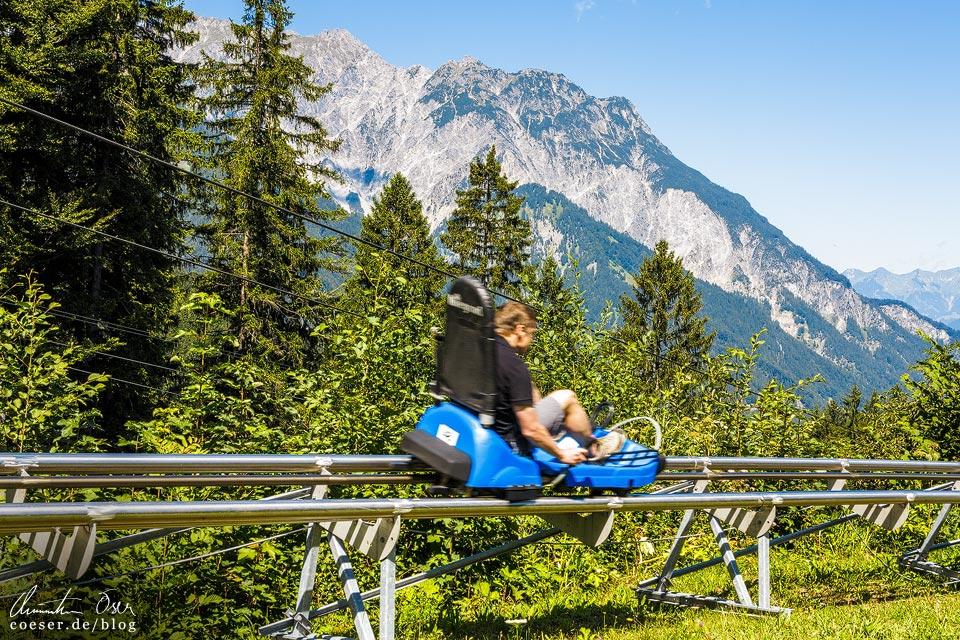 Alpine Coaster auf dem Erlebnisberg Golm im Montafon