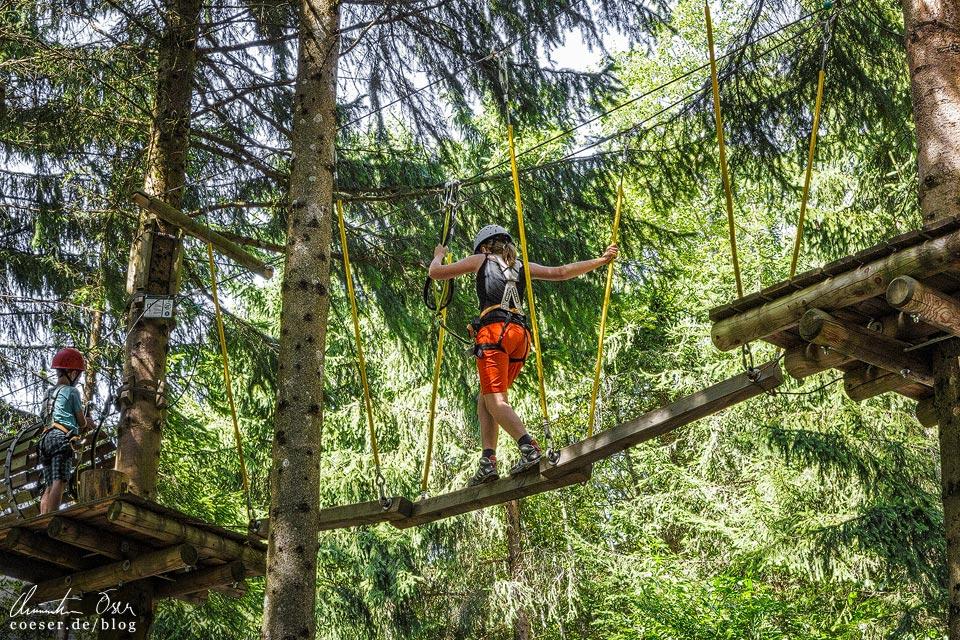 Waldseilgarten auf dem Erlebnisberg Golm im Montafon