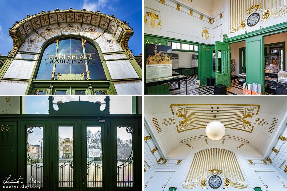 Jugendstilpavillons von Otto Wagner am Karlsplatz in Wien
