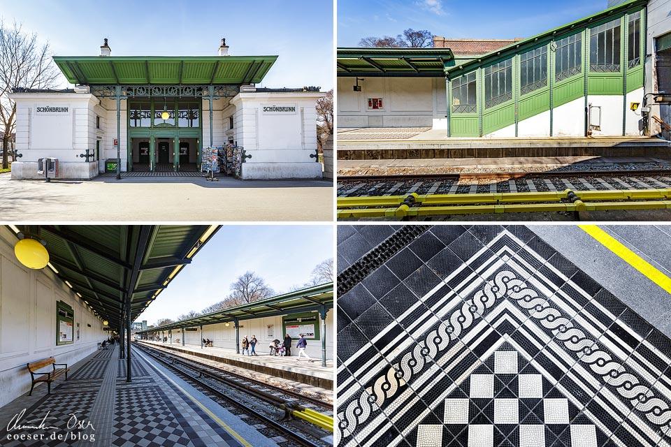 Station Schönbrunn von Otto Wagner in Wien