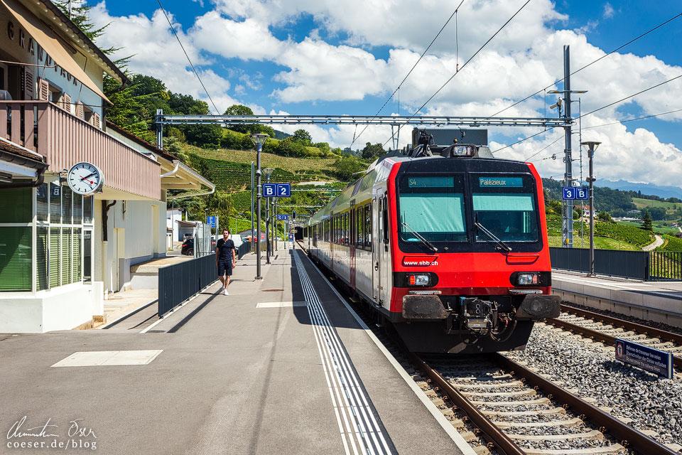 Bahnhof Grandvaux an den UNESCO-Weinterrassen von Lavaux