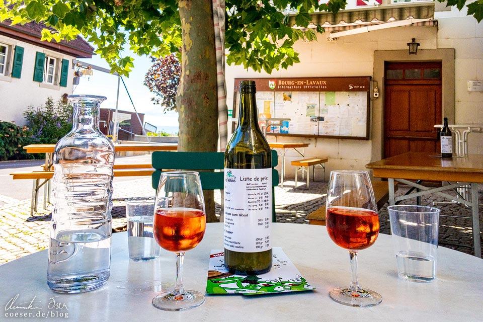 Weinverkostung auf den UNESCO-Weinterrassen von Lavaux
