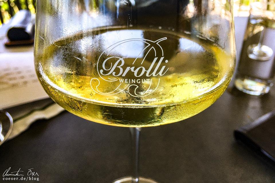 Gelber Muskateller im Weinrefugium Brolli in Eckberg in der Südsteiermark