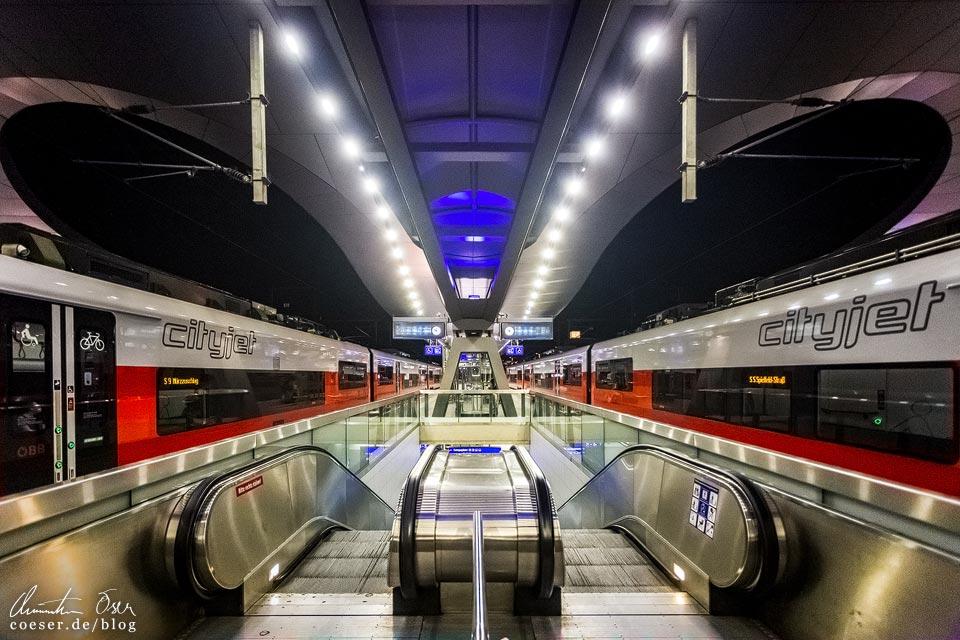 Cityjet der S-Bahn im Hauptbahnhof Graz