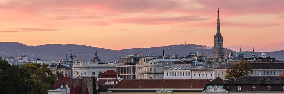 Canaletto-Blick vom Schloss Belvedere in Wien