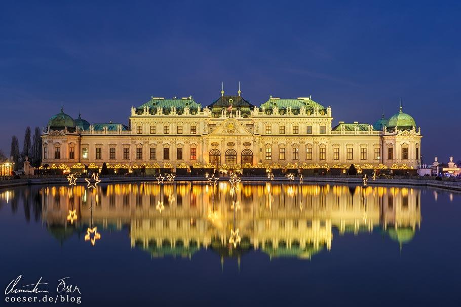 Fotospots Wien: Das beleuchtete Schloss Belvedere