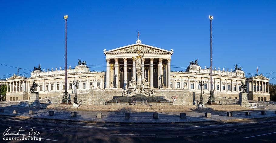 Fotospots Wien: Panorama des Parlaments