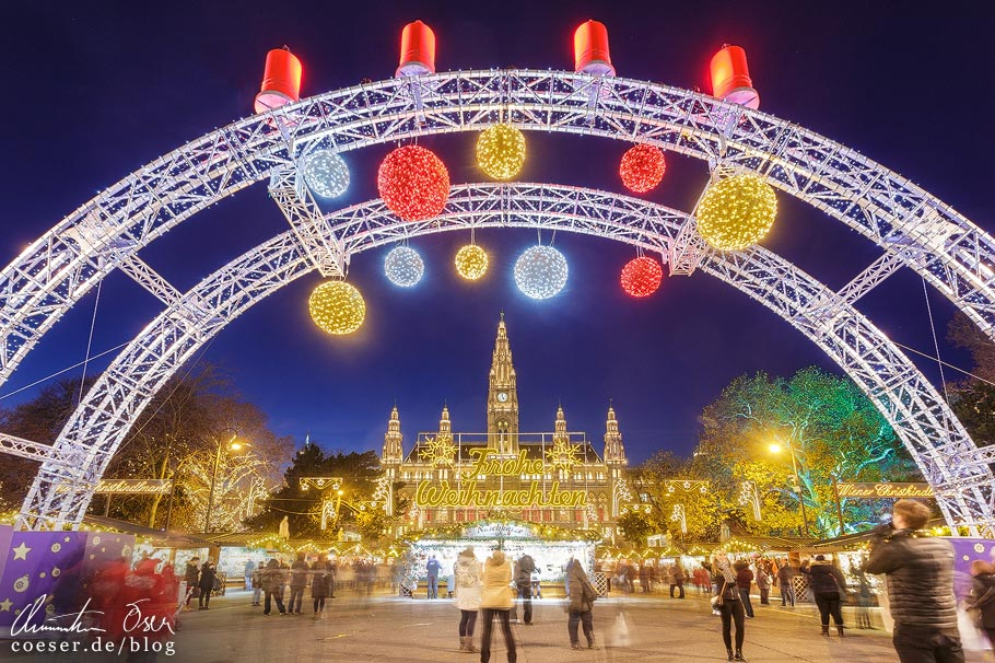 Fotospots Wien: Christkindlmarkt vor dem Rathaus