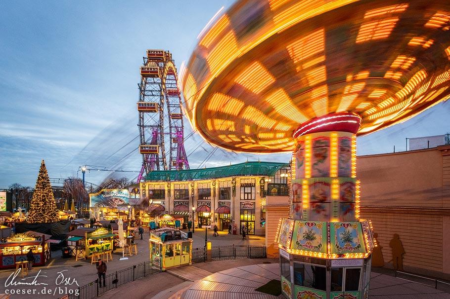 Fotospots Wien: Riesenrad und Kettenkarussell im Prater