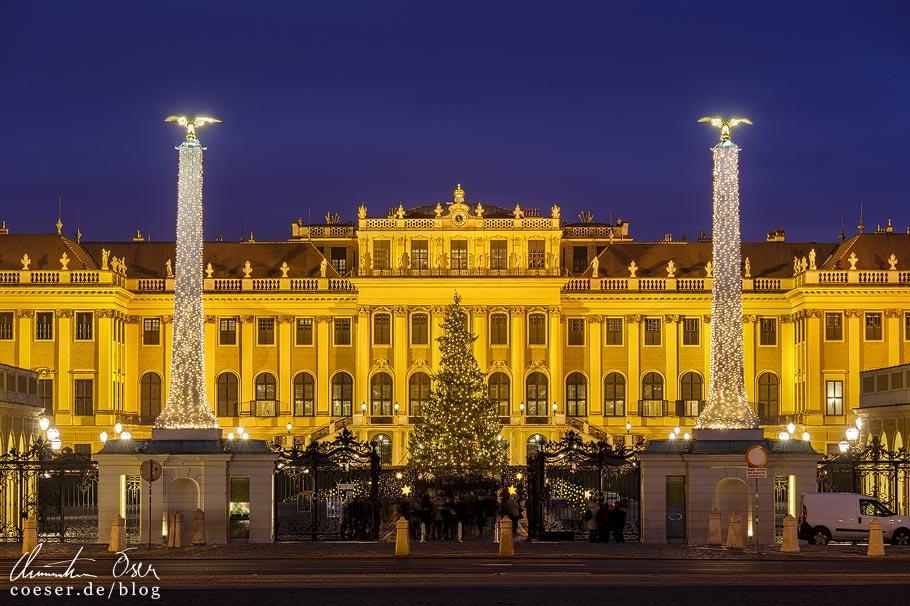 Fotospots Wien: Weihnachtsmarkt vor dem Schloss Schönbrunn