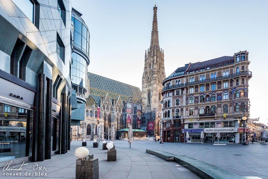 Fotospots Wien: Der leere Stephansplatz