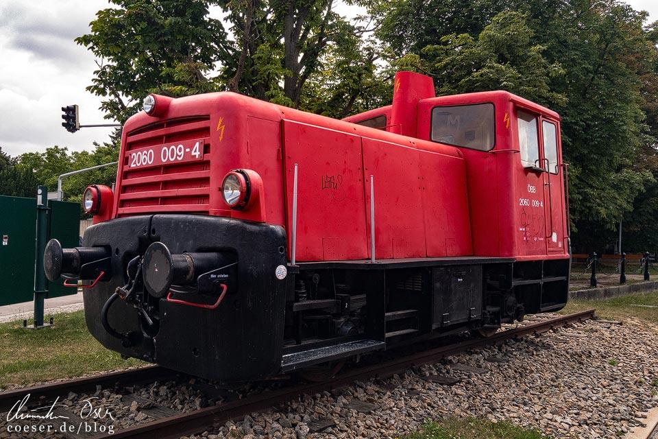 Lokomotive 2060 in Stammersdorf am Stadtwanderweg 5 in Wien