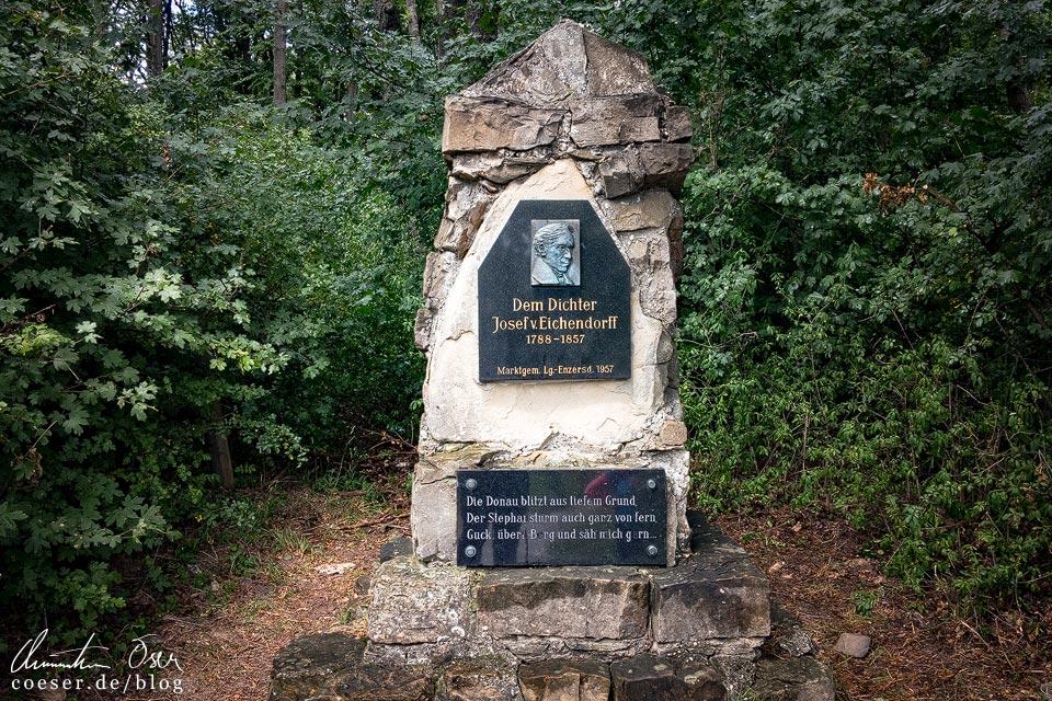 Gedenkstein für den Dichter Josef von Eichendorff am Stadtwanderweg 5 in Wien