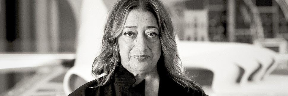 Porträt der Architektin Zaha Hadid