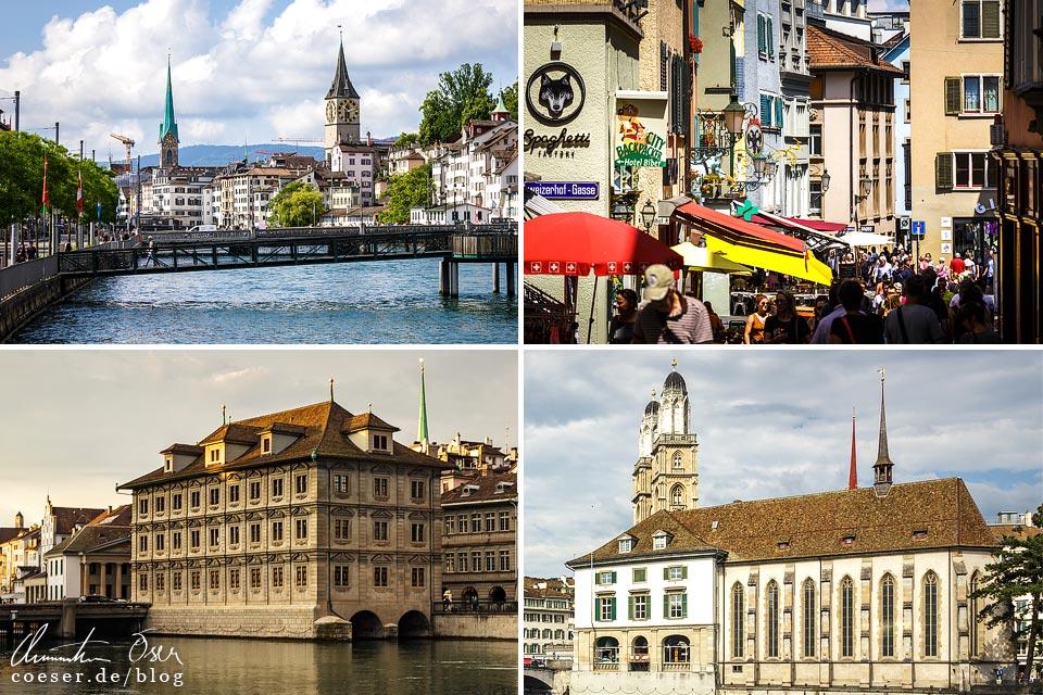 Zürich Innenstadt, Rathaus, Großmünster, Wasserkirche