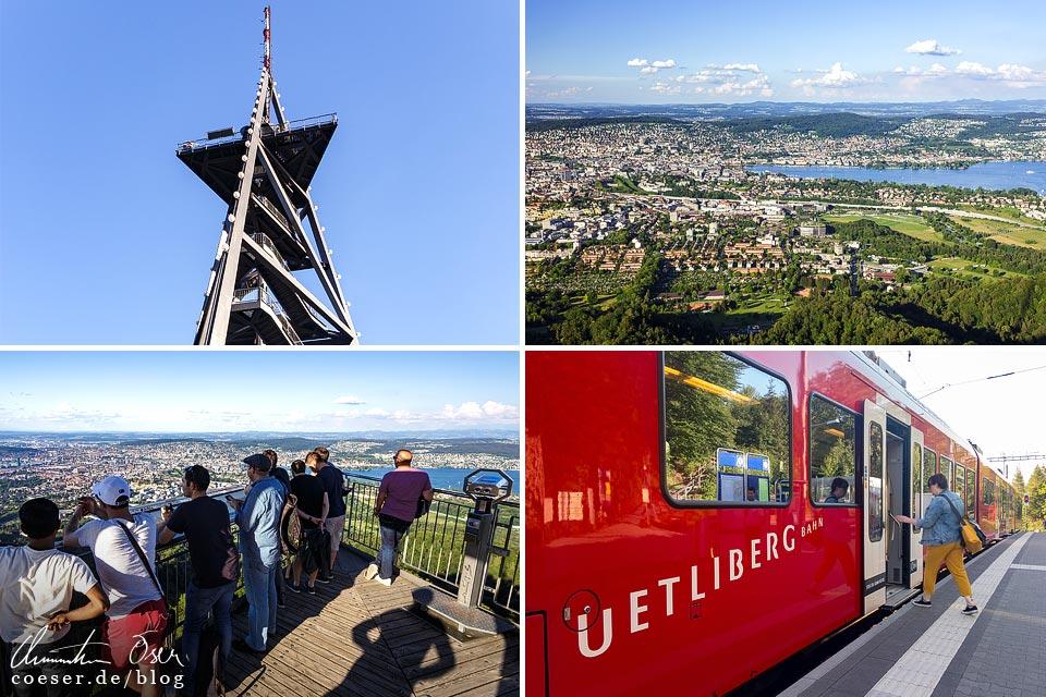 Eindrücke und Aussichten vom Uetliberg auf Zürich