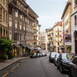 Prächtige Hausfassaden in Genf