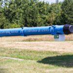 Ausgestelltes Forschungselement am Gelände des Kernforschungsinstituts CERN
