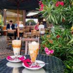 Affogato bzw. Eiskaffee im Cottage Café in Genf
