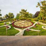 Blumenuhr (L'horloge fleurie) im Jardin Anglais (Englischer Garten) am Genfersee