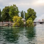 Kleine Insel Île Rousseau am Genfersee