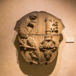 Altes Stadtwappen im Maison Tavel in Genf