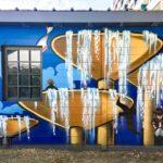 Mural nahe eines öffentlichen Bades in Carouge