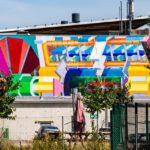 Mural vor dem Kernforschungsinstitut CERN
