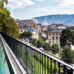 Ausblick von der Promenade de la Treille in Genf