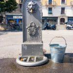 Typischer Trinkbrunnen in Genf