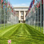 Völkerbundpalast (Palais des Nations) der Vereinten Nationen (UNO) in Genf