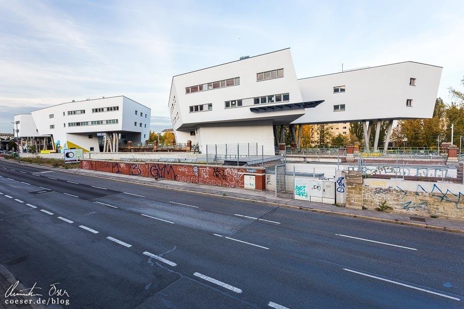 Zaha-Hadid-Haus von Architektin Zaha Hadid am Donaukanal in Wien