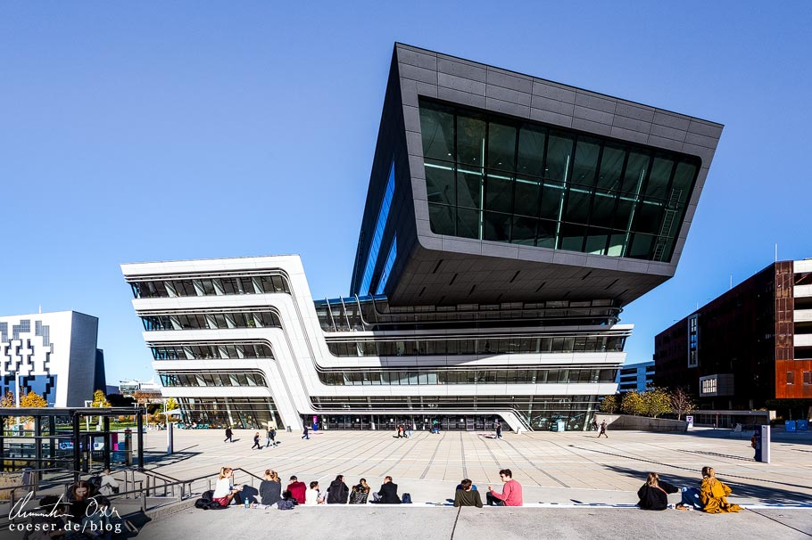 Library and Learning Center von Zaha Hadid am WU Campus in Wien