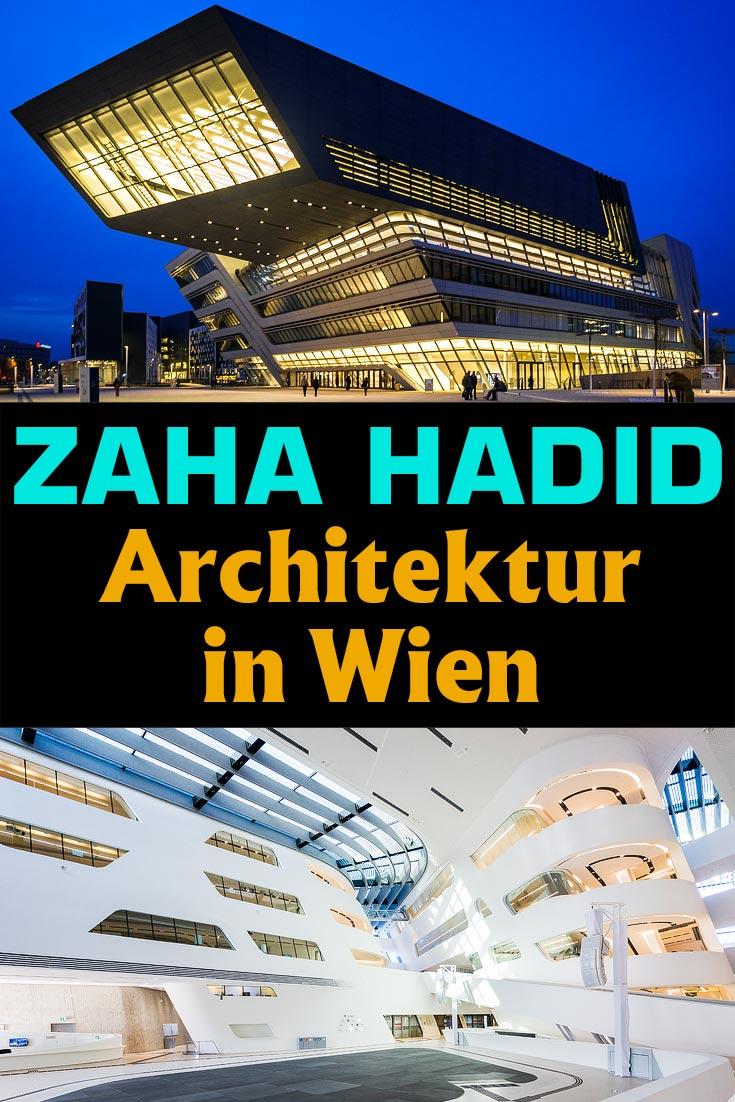 Zaha Hadid in Wien: Infos und Fotos zum Library and Learning Center am WU Campus und das Zaha-Hadid-Haus am Donaukanal.
